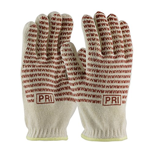 Knit Hot Mill (Double-Layered Cotton Seamless Knit Hot Mill Glove with Double-Sided EverGrip Nitrile Coating - 24 oz 43-502L, (8))