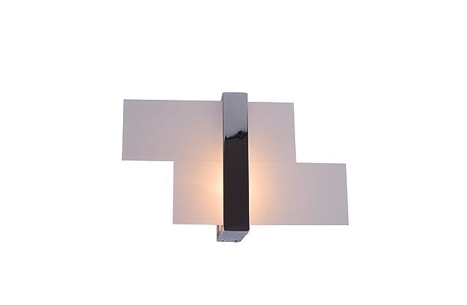 Applique lampada parete design moderno cromo pmma illuminazione