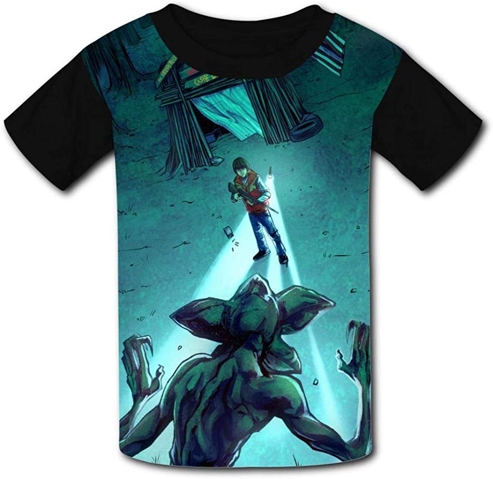 S-tranger Thing-s Night Kids T-Shirts Short Sleeve Tees Summer Tops for Youth//Boys//Girls