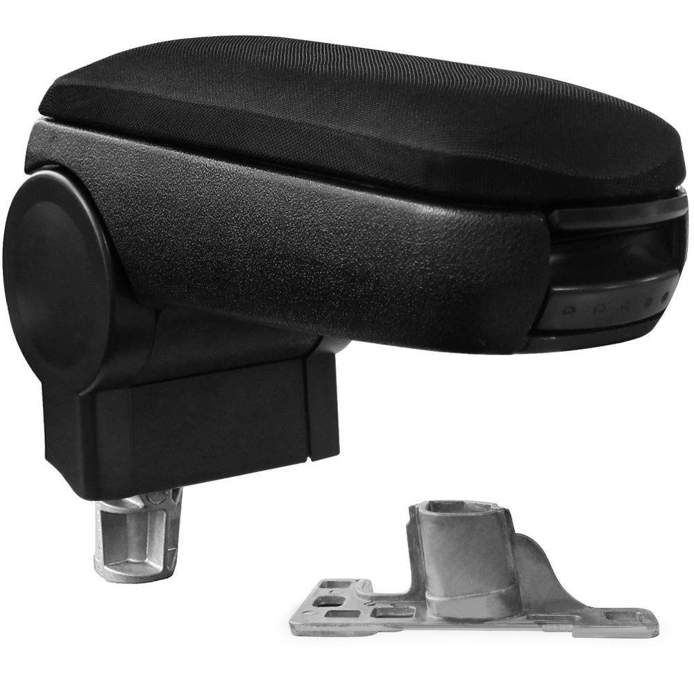 Bezug: Stoff//Textil Mittelarmlehne // Mittel-Armlehne mit klappbarem staufach // Mittel-konsole Fahrzeugspezifisch Farbe: SCHWARZ