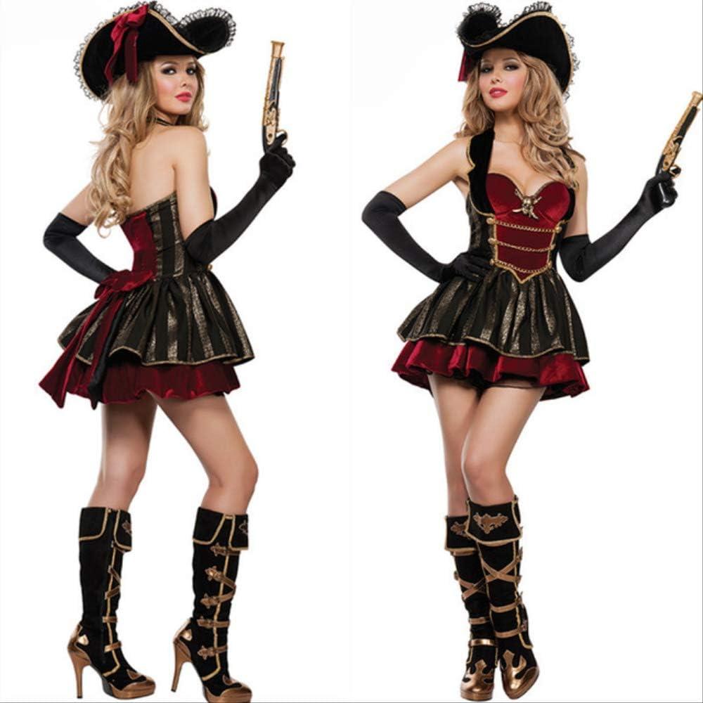 CHNWSJ Disfraces de Halloween Mares del Caribe Pirata del Traje ...