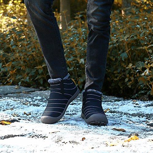 SAGUARO Scarpe Caviglia Uomo Caldo Collo Stivaletti Nero Donna Stivali Botas Piatto Outdoor Invernali Alto Rw1xRrqUY