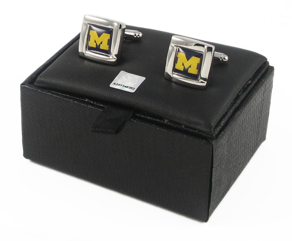 Michigan Wolverines NCAA Team Logo Cufflinks