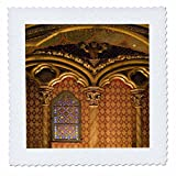 3dRose qs_81455_1 Saint Chapelle, Paris, France Eu09 Dbn0718 David Barnes Quilt Square, 10 by 10-Inch