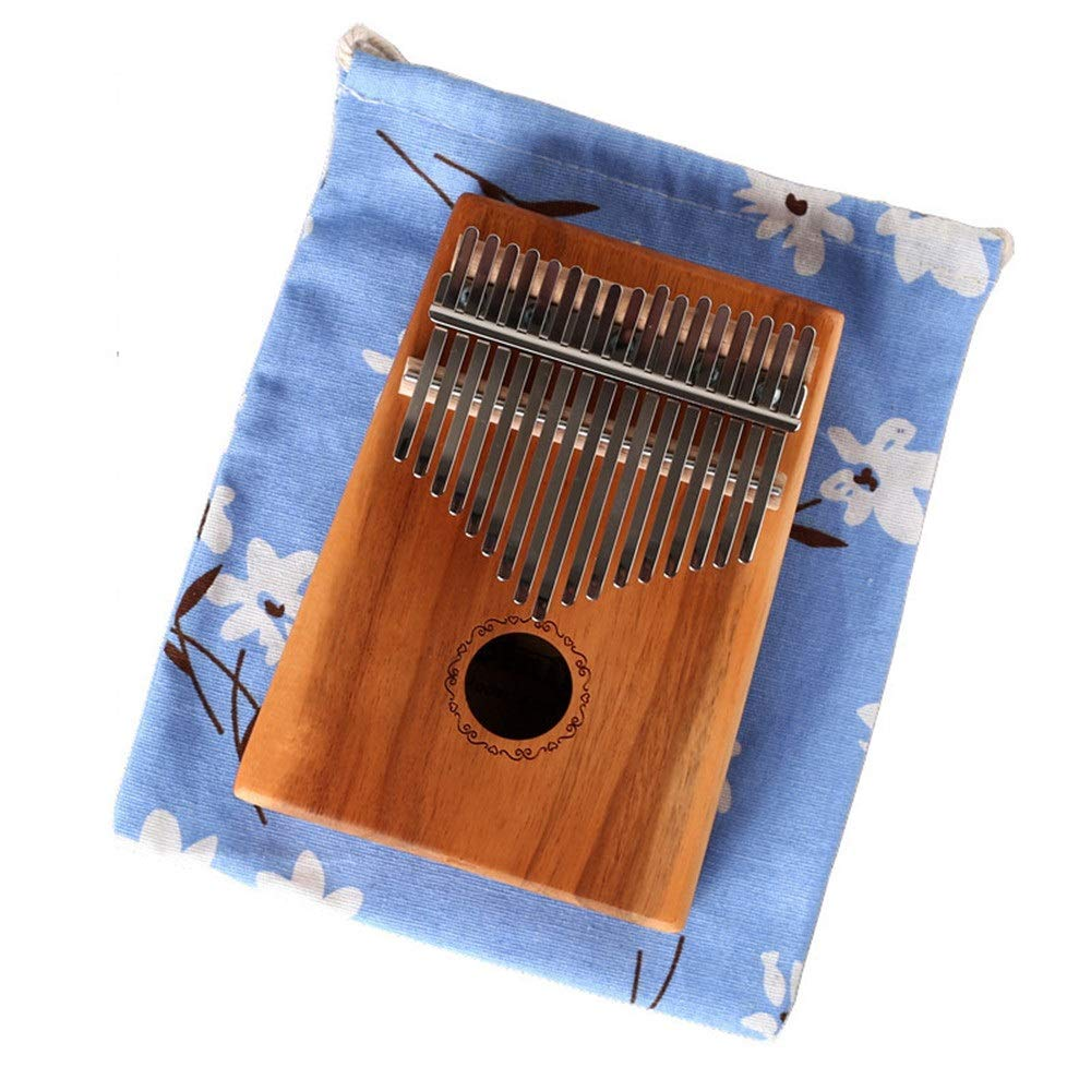 Thumb Piano Standard C Tune Thumb Piano 17 Keys Kalimba Portable Finger Piano Wood Body Metal Tines With Tuning Hammer Carry Bag African Musical Instrument Kids Gifts Music Lovers Beginners
