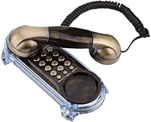 Antique wall-mounted retro telephone Cable-fixed telephone Land-line fashion telephone for home hotel(Bronze)