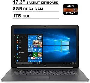 2020 Newest HP Premium Pavilion 17.3 Inch Touchscreen Laptop (AMD 4-Cores Ryzen 5 3500U up to 3.7 GHz, AMD Radeon Vega 8, 8GB DDR4 RAM, 1TB HDD, Backlit KB, DVDRW, WiFi, HDMI, Windows 10)