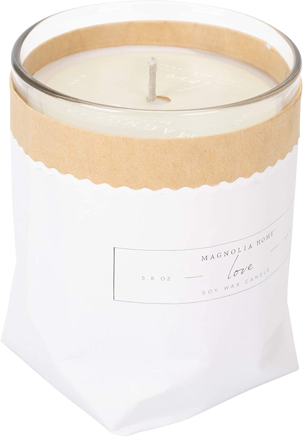Love Scented 5.8 ounce Soy Wax Kraft-Textured Candle by Joanna Gaines - Illume