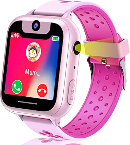 Kids GPS Tracker Watch with Free SIM Card - Kids Smart Watch Digital Wrist Watch Phone with SOS Camera Game Alarm Voice Chat Smartwatch Phone for Kids ...