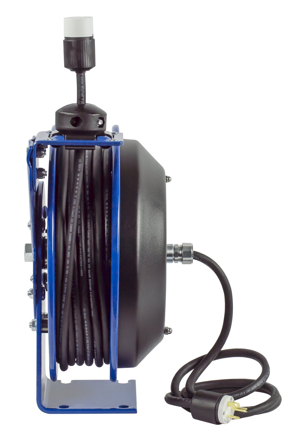 20 Amp 115 Volts 50 Length Coxreels EZ-PC13-5012-F Safety Series Spring Rewind SJO Power Cord Reel
