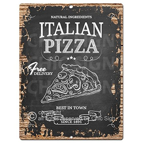 Italian Pizza Chic Sign Rustic Shabby Vintage style Retro Kitchen Bar Pub Coffee Shop Wall Decor 9