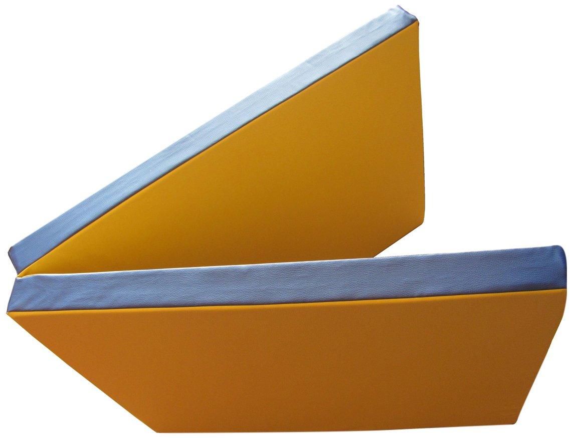 Niro Sportgeräte Turnmatte Weichbodenmatte Klappbar Blau/Gelb 200 x 80 x 8 cm TM6