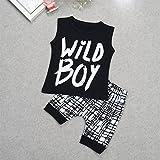 3 Style Baby Boys Clothes Set Wild Boy T-Shirt