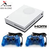 CXYP Built-in 600 Classic Family Game Console with 2Pcs Joystick , Support CP1, CP2, NEOGEO, Arcade, GBA, MD,SFC (White)