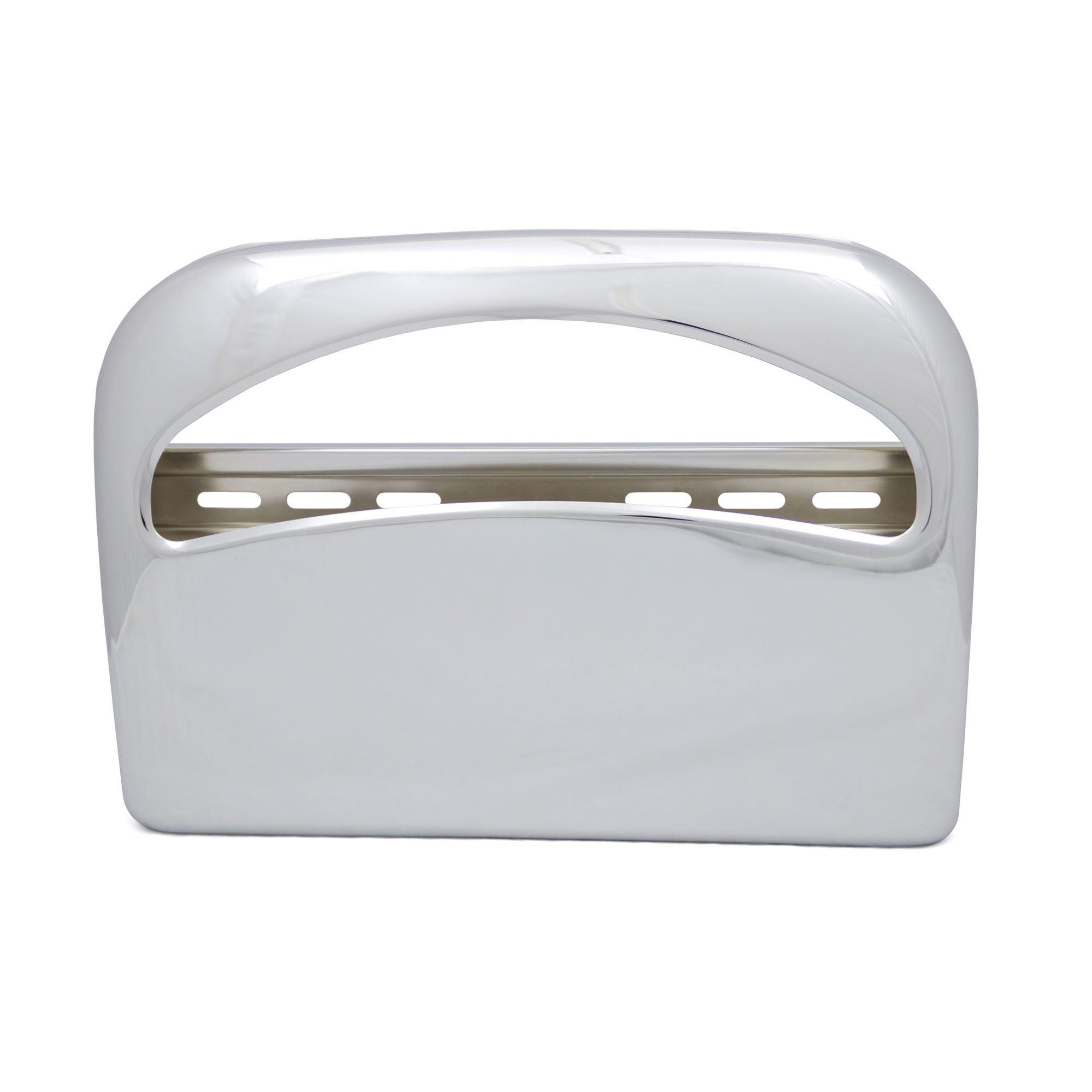 Toliet Seat Cover Dispenser, Metal, Round Corners, Chrome