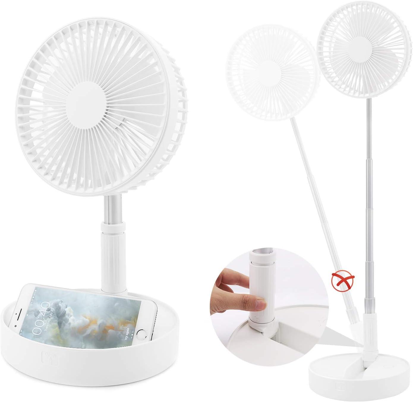 WGP Portable Table Fan Air Circulator Fan Travel Mini Fan ...