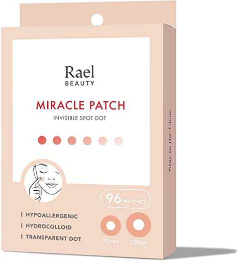 Rael Acne Pimple Healing Patch – Absorbing Cover, Invisible, Blemish Spot, Hydrocolloid, Skin Treatment, Facial Stickers, Two Sizes 10mm & 12mm,…