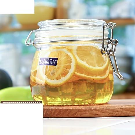 Hebilla] Tanque sellado transparente Vidrio [jar de almacenamiento ...