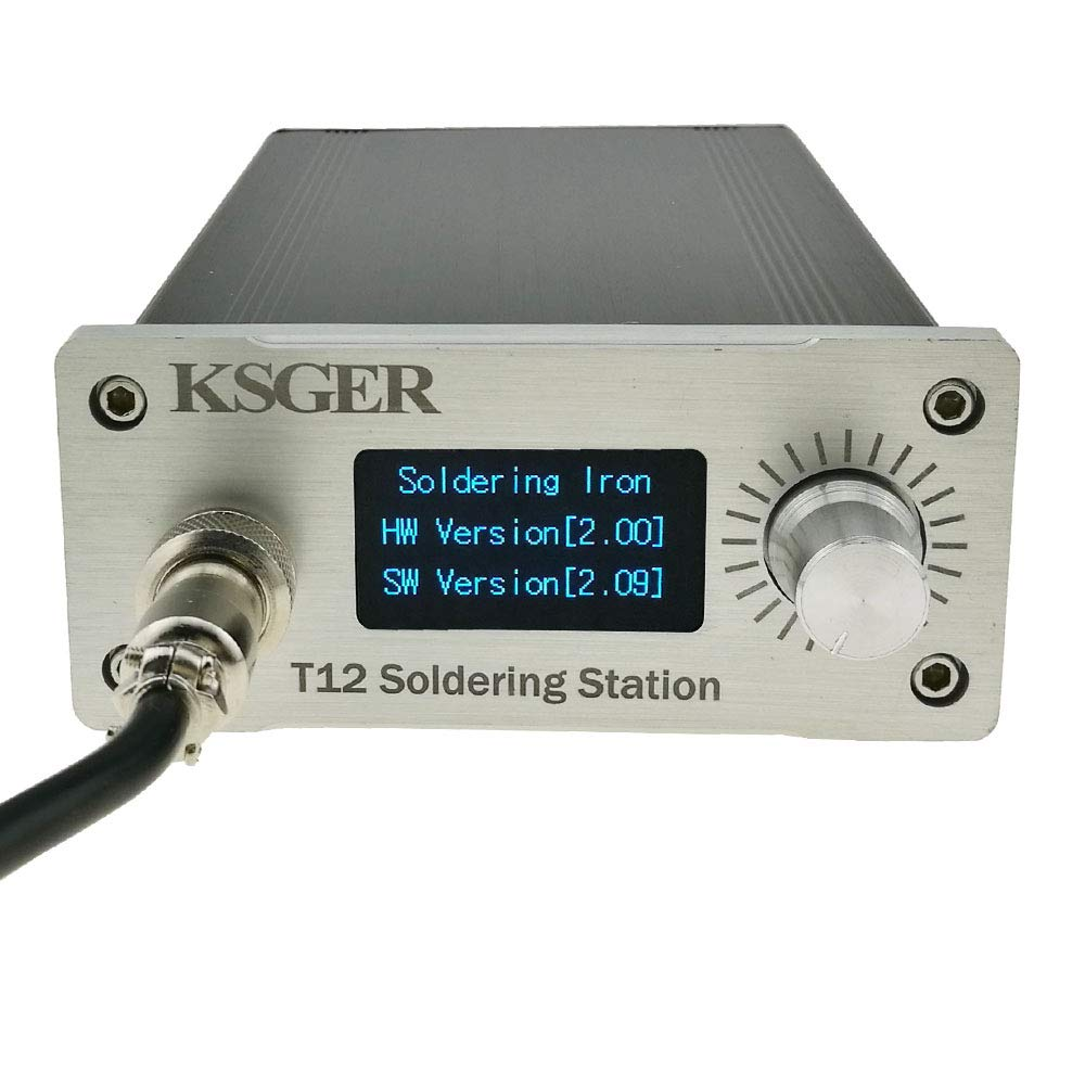 KSGER T12 Soldering Station OLED DIY Kits STM32 V2.01 Temperature Controller Electronic Welding Iron Tips FX9501 Handle CNC Aluminum Alloy Case Power Equipments 110V T12-K ILS Tips