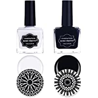 Born Pretty 2 Bottles Nail Art Stamping Polish