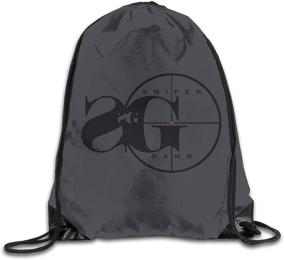 WABAODAN Sniper Gang 3D Printing Unisex Classic Drawstring Bags One Size