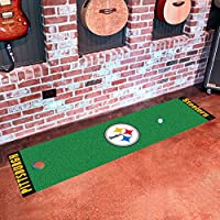 FANMATS NFL Pittsburgh Steelers Nylon Face Putting Green Mat