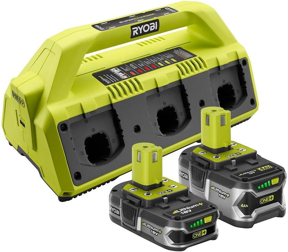 RYOBI SuperCharger Battery Kit 18-Volt Lithium-Ion 2 Amp USB Port LED Light