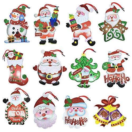 24 Pack of Large Christmas Gift Tags in 12 Assorted Christmas Festival Holiday Designs by - Image Name Hk