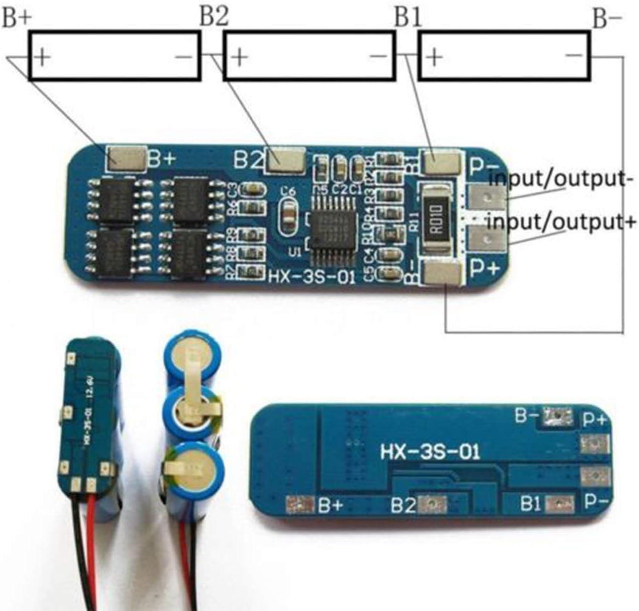 Module de Charge 12v de Charge de BMS Li-ION de Panneau de Protection de Chargeur de Batterie au Lithium de Pudincoco 3S 10A