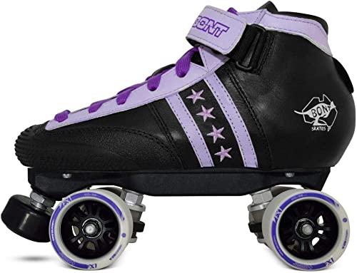 Bont Skates Quadstar Junior Roller Skate Package Indoor Quad Speed Genuine Australian Leather Youth