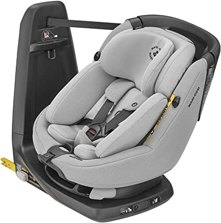 Oferta amazon: Maxi-Cosi Axissfix Plus Silla de coche giratoria 360° isofix, silla auto reclinable y contramarcha, con reductor bebé recién nacido, 0 meses - 4 años, color authentic grey