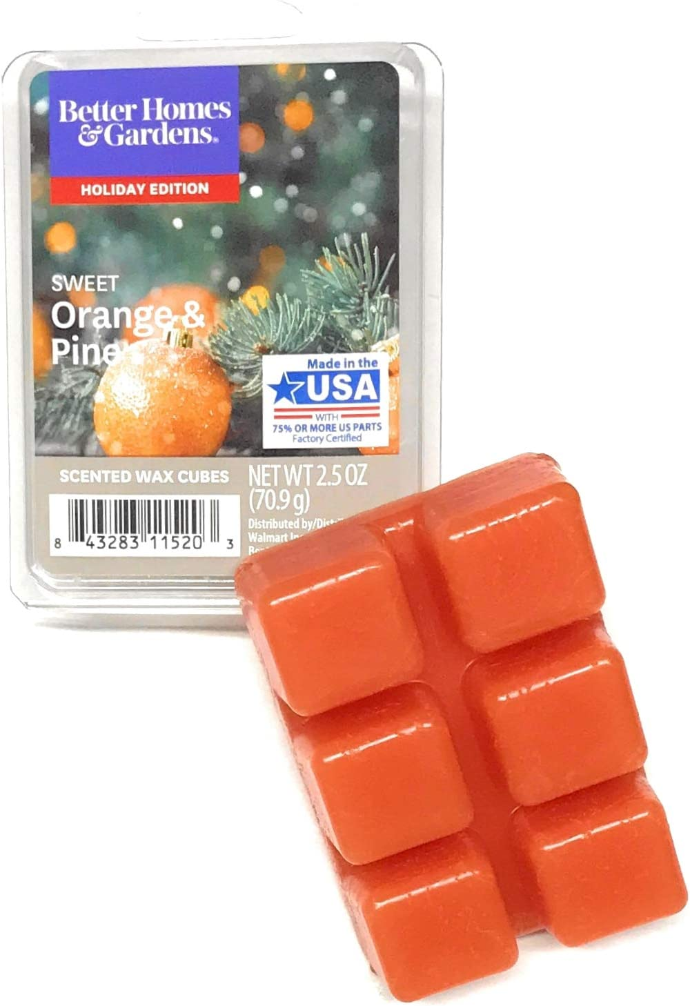 Better Homes & Gardens Scented Wax Cubes, 2019 Limited Edition (Sweet Orange & Pine)