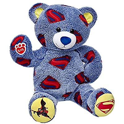 Build a Bear Superman Superhero Teddy 16in. Stuffed Plush Toy Animal: Toys & Games