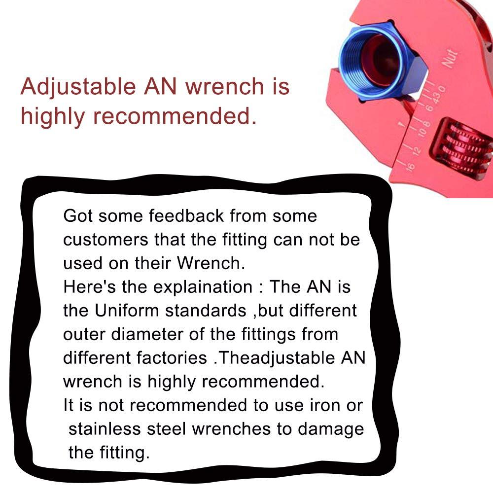 EVIL ENERGY 6AN 180 Degree Swivel Hose End Fitting for braided fuel line Aluminum Alloy black