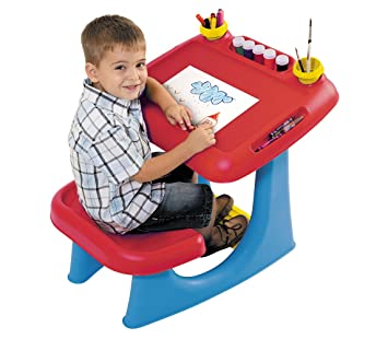 Keter Sit U0026 Draw Kids Art Table Creativity Desk With Arts U0026 Crafts Storage  And Removable