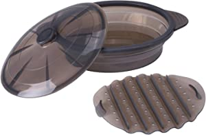 Sweepstakes: Microwave Steamer Collapsible Bowl-Silicone Steamer with...