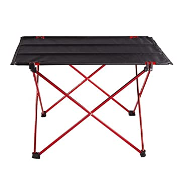 LUUFAN Mesa Plegable Ligera para Camping, Mesa de Picnic compacta portátil Plegable, mesas Plegables