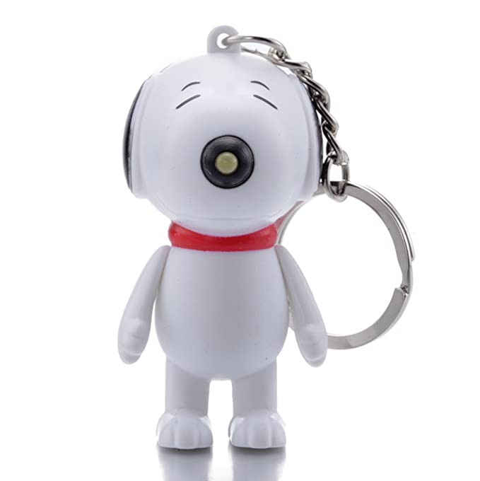 REINDEAR Snoopy LED Flashlight Light Up Keychain w/ Sound (Barks) US Seller