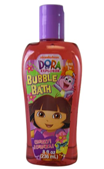Amazon.com : Nick Jr. Dora the Explorer Cherry Cereza 8 oz. Bubble Bath- Dora the Explorer Bubble Bath : Beauty