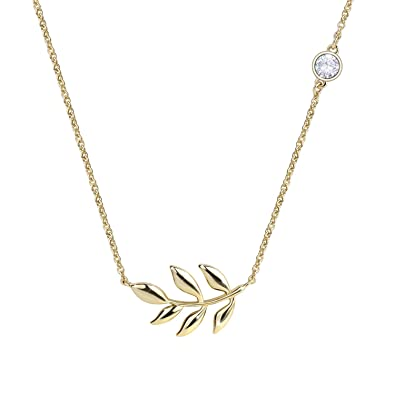 689d2e526 Olive Leaf Pendant Necklace Tree Branch Necklaces Station Chain For Women  (Gold): Amazon.co.uk: Jewellery