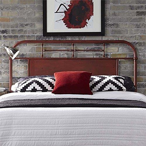 (Liberty Furniture Vintage Series King Metal Headboard, Red)