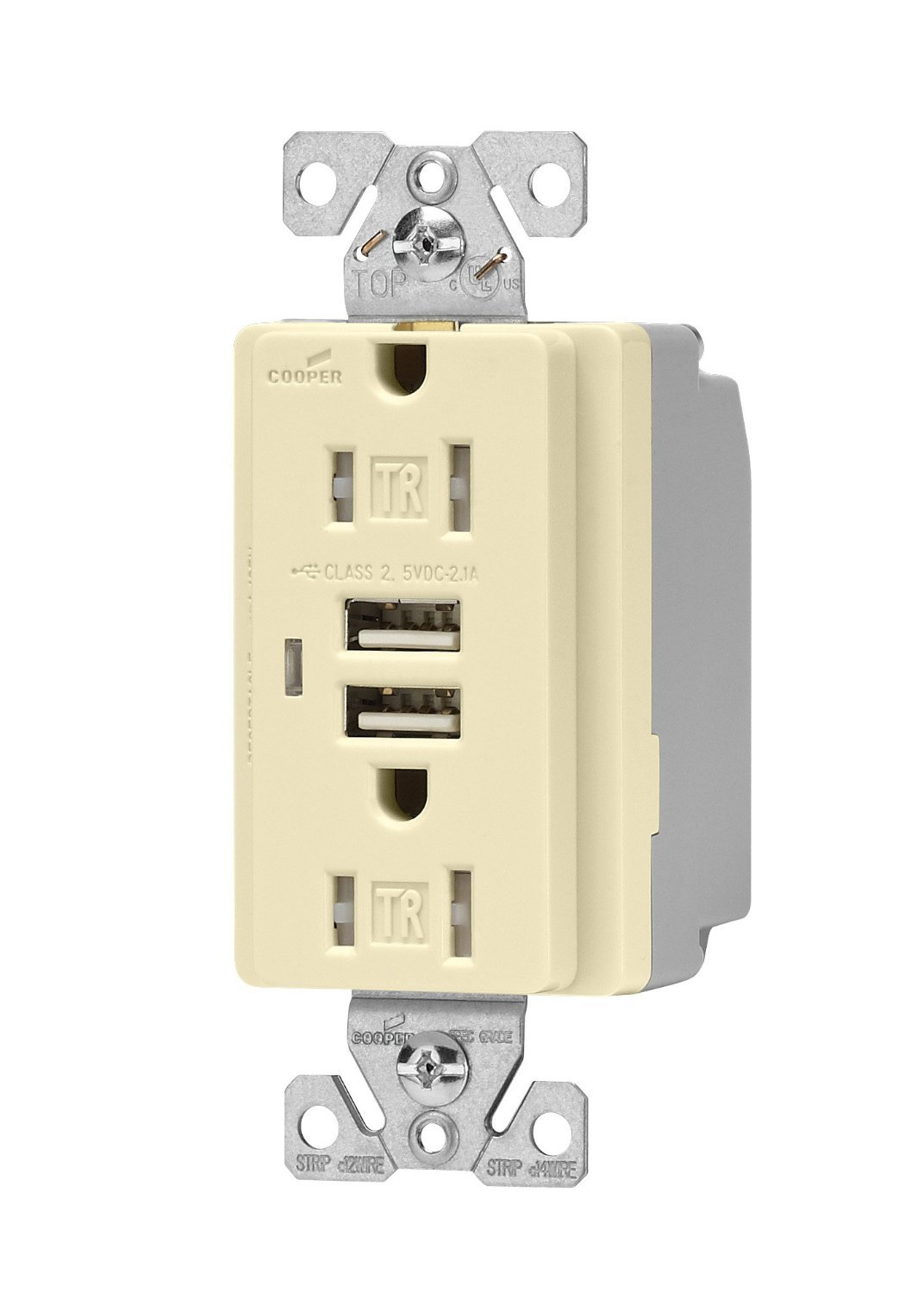 eaton tr7745a combination usb charger with tamper resistant rh amazon com USB Charger Schematic iPhone USB Charger