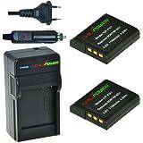 2x Batería + Cargador ChiliPower Sony NP-BG1, NP-FG1 1100mAh para Sony Cybershot DSC-HX5V, DSC-HX7V, DSC-HX9V, DSC-HX10V, DSC-HX20V, DSC-HX30V, DSC-H3, DSC-H7, DSC-H9, DSC-H10, DSC-H20, DSC-H50, DSC-H55, DSC-H70, DSC-H90, DSC-N1, DSC-N2, DSC-T20, DSC-T100, DSC-W30, DSC-W35, DSC-W50, DSC-W55, DSC-W70, DSC-W80, DSC-W90, DSC-W100, DSC-W120, DSC-W130, DSC-W150, DSC-W170, DSC-W200, DSC-W210, DSC-W215, DSC-W220, DSC-W230, DSC-W270, DSC-W290, DSC-W300, DSC-WX1, DSC-WX10, Handycam HDR-GW77V