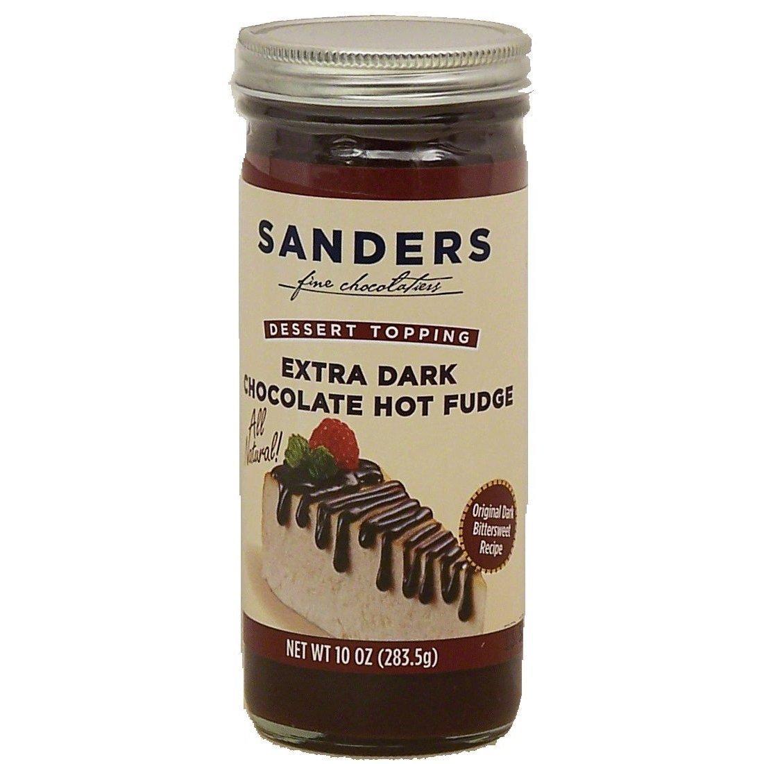 Sanders Assortment Milk Chocolate Hot Fudge, Classic Caramel and Extra Dark Chocolate Hot Fudge Dessert Topping 10 Oz (Pack of 3)