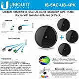 Ubiquiti Networks IS-5AC 5GHz 802.11ac IsoStation CPE 14dBi Radio Isolation AntennaUS (4 Pack)