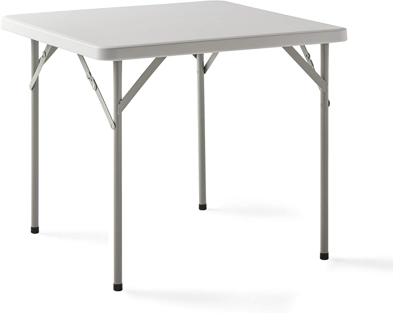 KitGarden - Mesa Plegable Multifuncional, 84x84x74cm, Blanco, Folding C84
