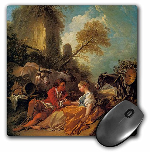 3dRose BLN Paintings of Love Fine Art Collection - A Pastoral Landscape with a Shepherd and Shepherdess by Francois Boucher - MousePad (mp_127126_1) ()