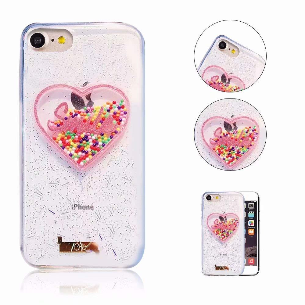 iPhone 6S Hülle, QianYang 3D Glitter Sparkle Kristall Handyhülle für iPhone 6S 6 Schutzhülle Thin Crystal Bling Anti-Kratzer Stoßdämpfende Tasche Schale - Ice Cream iPhone 6S Hülle iPhone 6 6S