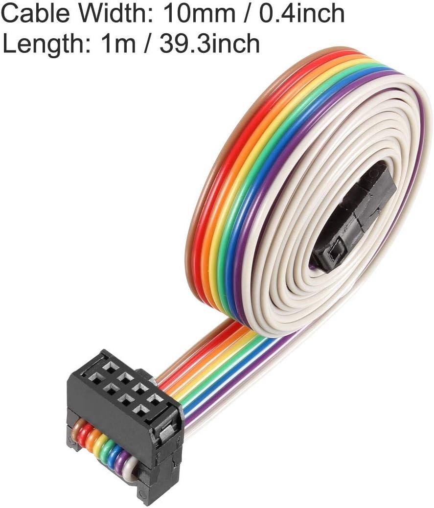 254 mm, Cable arco/íris Cable Plano para Conector FC//FC Sourcingmap IDC