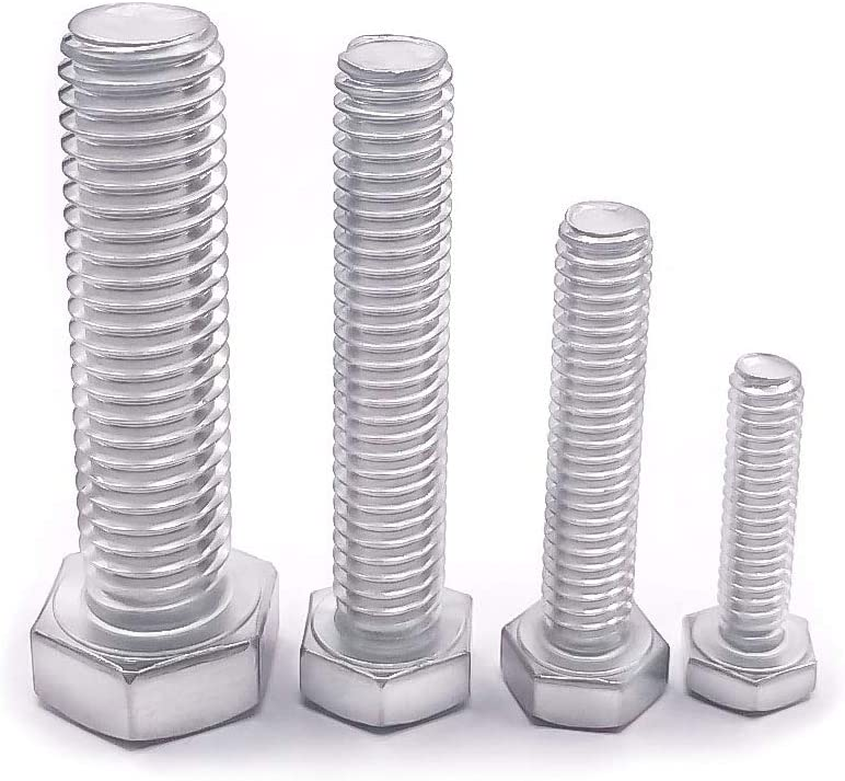 304 Stainless steel 18-8 Fully Machine Thread Flat Point Bright Finish 15 PCS by Eastlo Fastener 5//16-18x2-1//2 Hex Head Cap Screw Bolts 1//4 to 3 Available